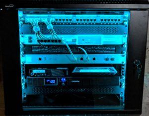 Networked Server in Custom Closet | Amor IT Solutions